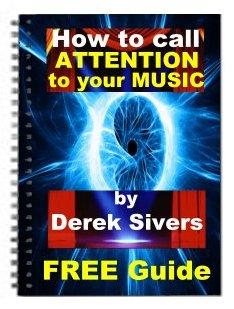 """Обложка книги """"как привлечь внимание к вашей музыке"""""""