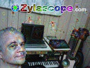 Geoff in the Zylascope studio